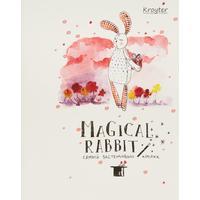 Тетрадь общая Kroyter Магический кролик А5 48 листов в клетку на скрепке (06197)