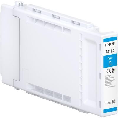 Картридж струйный Epson T41R240 C13T41R240 голубой оригинальный