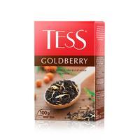 Чай Tess Goldberry черный с айвой и облепихой 100 г