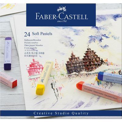 Пастель Faber-Castell Soft pastels сухая 24 цвета