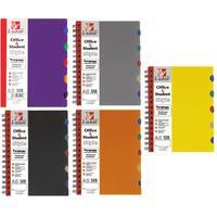 Бизнес-тетрадь Listoff A5 120 листов в клетку 5 разделителей на спирали (155х210 мм)