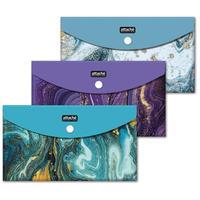 Папка-конверт на кнопке Attache Selection Fluid  225x130 мм 200 мкм (6 штук в упаковке)