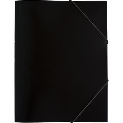 Папка на резинках Attache Economy A4 35 мм пластиковая до 300 листов черная (толщина обложки 0.5 мм)