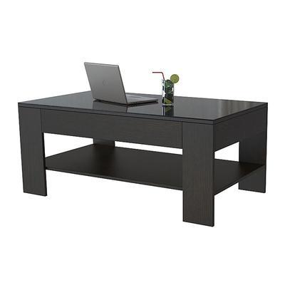 Стол журнальный BeautyStyle 26 (венге/стекло черное, 1100x600x465 мм)