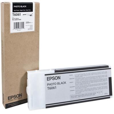 Картридж струйный Epson T6061 C13T606100 фото черный повышенной емкости оригинальный
