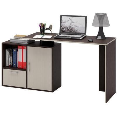 Стол компьютерный Слим-4 (венге/дуб молочный, 1587x750/1200x500 мм)