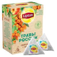 Чай Lipton Сибирские травы с облепихой травяной 20 пакетиков-пирамидок