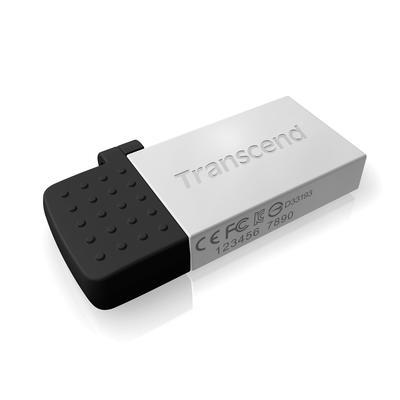 Флеш-память USB 2.0/microUSB 64 Гб Transcend JetFlash 380 (TS64GJF380S)