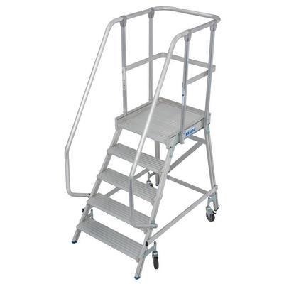 Лестница передвижная Krause алюминиевая односекционная 5 ступеней   (820150)