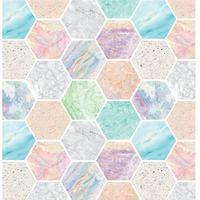 Бумага упаковочная Miland Мраморная мозайка (10 листов в рулоне, 70x100  см)