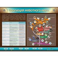 Стенд электрифицированный интерактивный  по биологии Эволюция животного мира (1700х1300 мм)