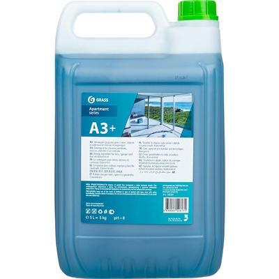 Моющее средство для стекол/зеркал и кафеля Grass Apartament series А3+ 5 л (концентрат)