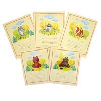 Тетрадь школьная Канц-Эксмо Лесные зверята А5 12 листов в линейку (обложка в ассортименте)
