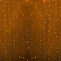 Гирлянда светодиодная уличная Neon-Night Дождь бахрома желтый свет 448 светодиодов (2х3 м)