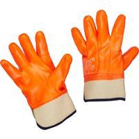 Перчатки рабочие трикотажные с ПВХ покрытием (утепленные, размер 10, XL, манжета крага)