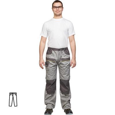 Брюки рабочие летние мужские Delta Plus светло-серые/черные (размер 52-54 рост 172-180)