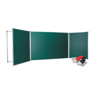 Доска магнитно-меловая/маркерная  100х340 см  пятисекционная  зеленая/белая  BoardSYS