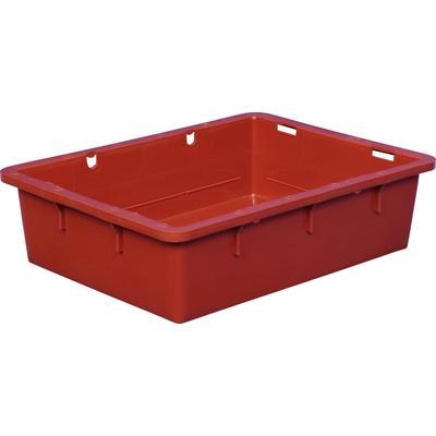 Ящик (лоток) сырково-творожный из ПНД 532х400х141 мм красный