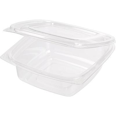 Одноразовый пластиковый контейнер для салатов 375 мл прозрачный (300 штук в упаковке)