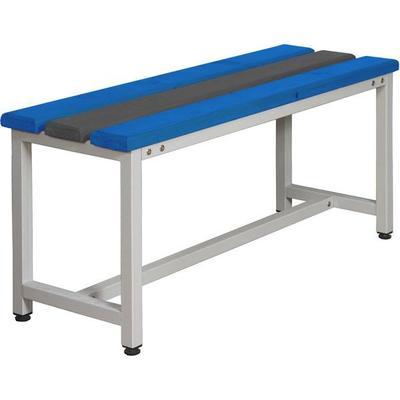 Скамья СКП1-1500 синий/серый  (пластик, металл 1500х350х480 мм)