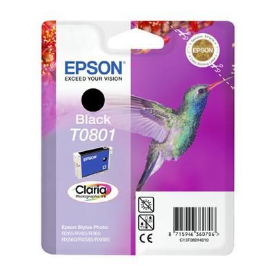Картридж струйный Epson T0801 C13T08014011/21 черный оригинальный