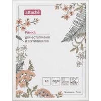 Рамка Attache A3 30x40 см пластиковый багет 14 мм белая (стекло)