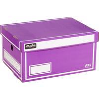 Короб архивный Attache Selection гофрокартон фиолетовый 320х240х160мм