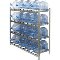 Стеллаж для бутилированной воды Бомис-16 на 16 тар по 19л металлик