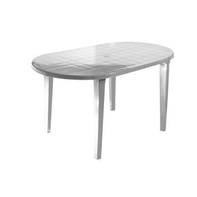 Стол пластиковый овальный белый (1400x800x710 мм )