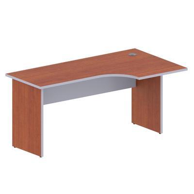 Стол эргономичный Easy Business правый (яблоня/серый, 1600x900x747 мм)