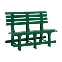 Скамья садовая пластиковая №2 темно-зеленая (1200х530х800 мм)