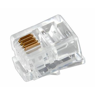 Коннектор телефонный Rexant 6P4C 100 шт. (05-1012)