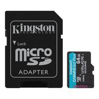 Карта памяти 64 Гб microSDXC Kingston Canvas Go! Plus UHS-I U3 A2 V30 (SDCG3/64Gb)