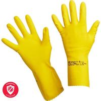 Перчатки латексные Vileda Professional Многоцелевые желтые (размер 8.5-9, L, артикул производителя 100760)