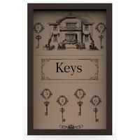 Ключница Keys 29x45 см массив дерева венге KD-041-020
