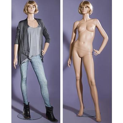 Манекен женский LG-94 c макияжем и париком (телесный)