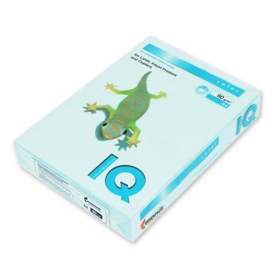 Бумага цветная для печати IQ Color голубая пастель BL29 (A4, 80 г/кв.м, 100 листов)
