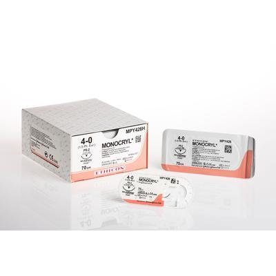 Шовный материал МОНОКРИЛ 5/0 45 см обратно-режущая игла 16 мм 3/8 MPY500H (36 штук в упаковке)