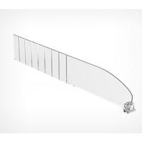 Разделитель полочный обламывающийся DIV60-В высотой 60 мм без ограничителя длина от 185-385 мм (40 штук в упаковке)