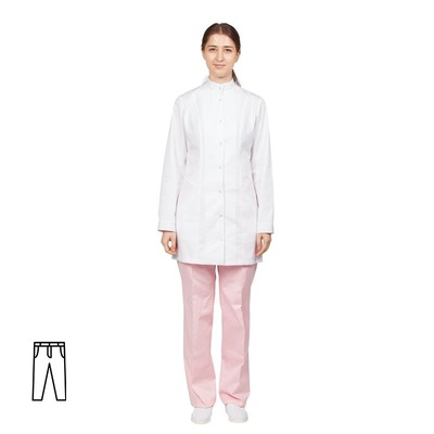 Брюки медицинские женские м14-БР розовые (размер 52-54, рост 158-164)