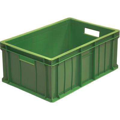 Ящик (лоток) мясной из ПНД 600х400х250 зеленый