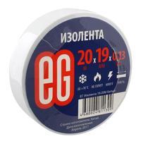 Изолента EG ПВХ 19 мм x 20 м белая