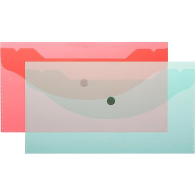 Папка-конверт на кнопке Attache A6 180 мкм (10 шт в упаковке)