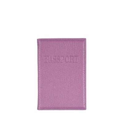 Обложка для паспорта Classik 2 из натуральной кожи сиреневого цвета (ОР-1)