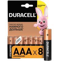 Батарейки Duracell Basic мизинчиковые ААA LR03 (8 штук в упаковке)
