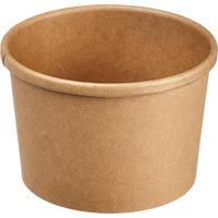 Контейнер для супа с крышкой DoEco Eco Soup 230 мл коричневый (25 штук в упаковке)