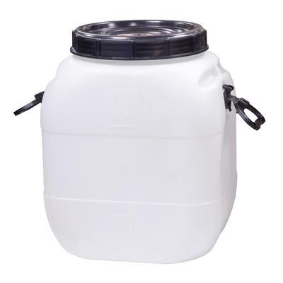 Бочка-бидон полиэтиленовая 404х347х500 мм 50 л белая с крышкой