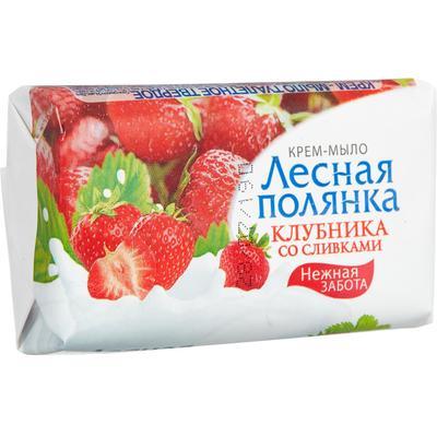 Крем-мыло Лесная полянка Клубника со сливками 90 г