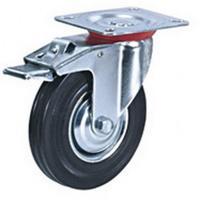 Колесо для тележки поворотное SCb 160 с тормозом 160 мм