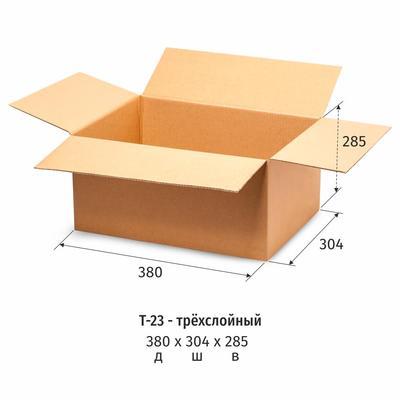 Гофрокороб 380х304х285 мм Т-23 бурый (10 штук в упаковке)